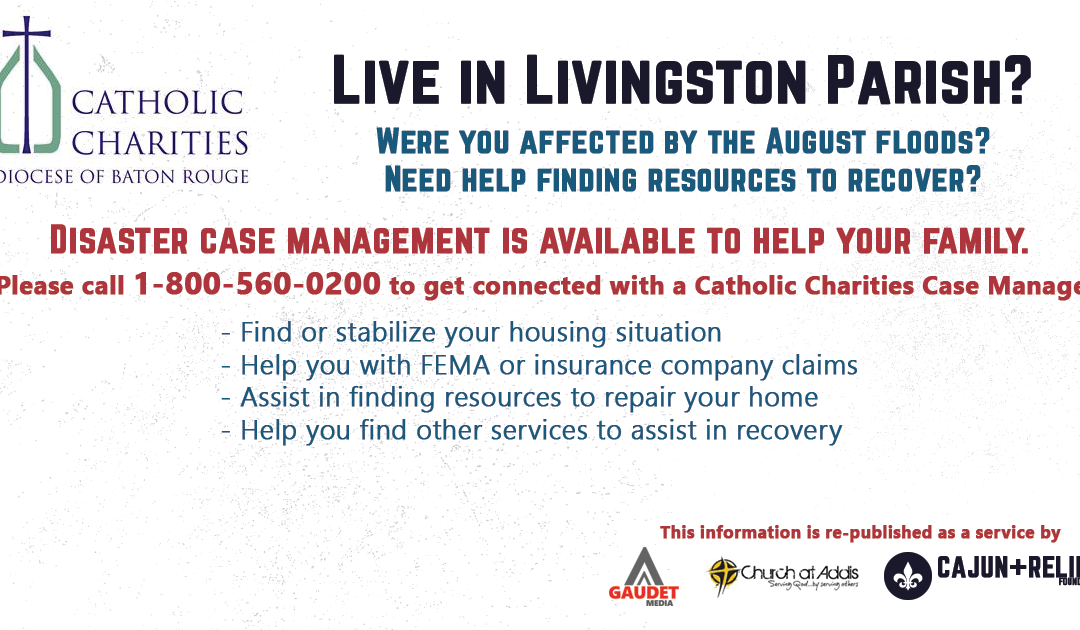 Catholic Charities Readies 200 Case Management Workers For Livingston Parish Flood Victims